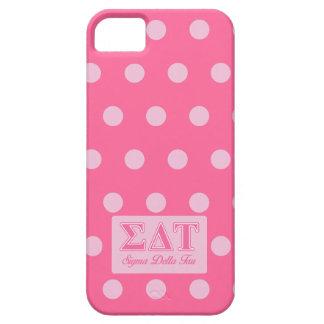Letras rosadas del Tau del delta de la sigma iPhone 5 Fundas