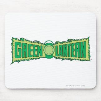 Letras verdes 1 de la linterna tapetes de raton