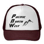Letras verticales del gorra del camionero de PNW