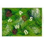 Letras y arte abstracto de los corazones tarjeta pequeña