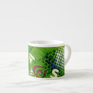 Letras y arte abstracto de los corazones taza espresso
