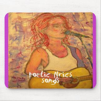 letras y arte poéticos del chica de la canción alfombrillas de raton
