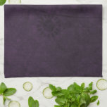 Letrero abstracto floral retro púrpura toallas de mano
