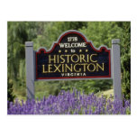 Letrero amarillo, flores históricas de Lexington Postal