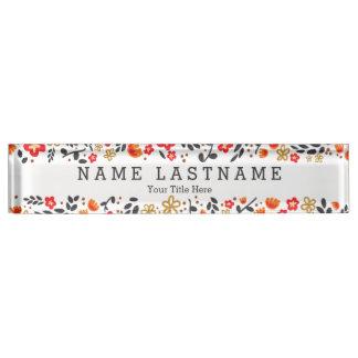 Letrero blanco de encargo femenino floral elegante