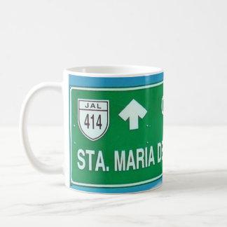 Letrero Carretera Santa Maria Del Oro Coffee Mug