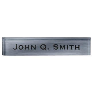 Letrero de acero cepillado personalizado