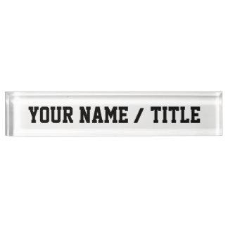 Letrero de encargo del escritorio - añada su propi