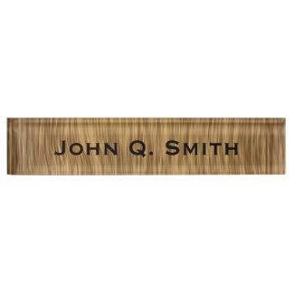Letrero de madera natural personalizado de la mira