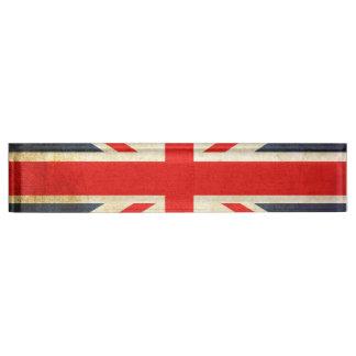 Letrero del escritorio de Union Jack