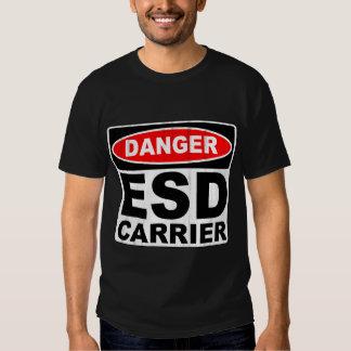 Letrero divertido de la descarga electrostática camisas