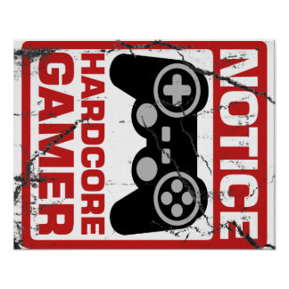 Letrero incondicional del aviso del videojugador impresiones