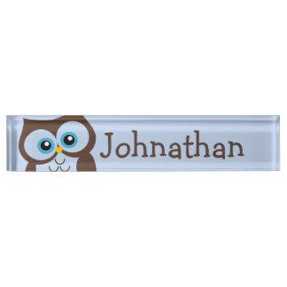 Letrero personalizado búho lindo