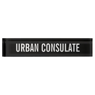 Letrero urbano del consulado