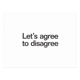 lets agree to disagree postcard