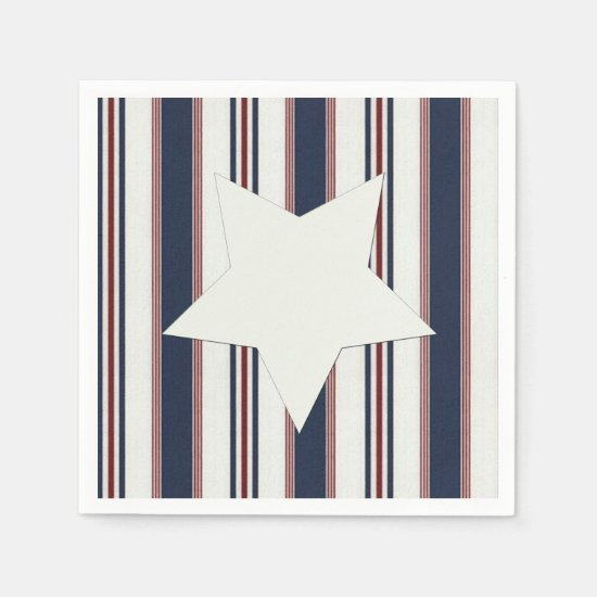 Let's All Celebrate July 4th Party Paper Napkins