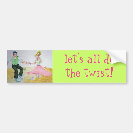 lets all do the twist swing dancers bumper stickers