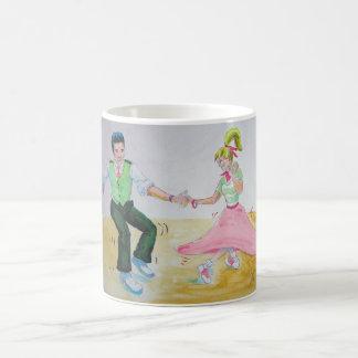 lets all do the twist swing dancers coffee mug