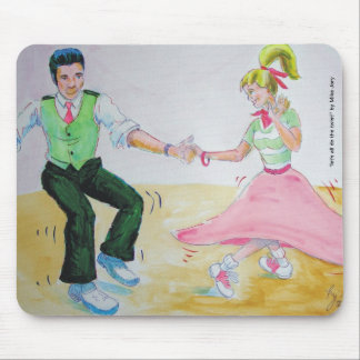lets all do the twist swing dancers mouse pad