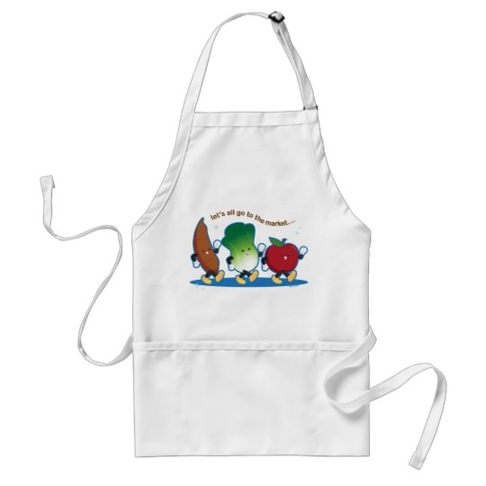 Let's All Go to the Market Adult Apron