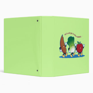 Let's All Go to the Market Vinyl Binder