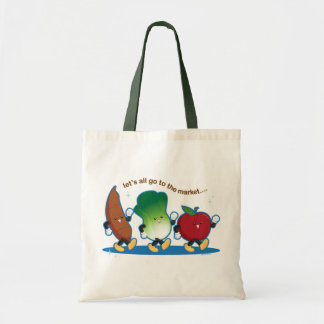 Let's All Go to the Market Budget Tote Bag