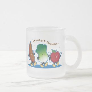 Let's All Go to the Market Frosted Glass Coffee Mug