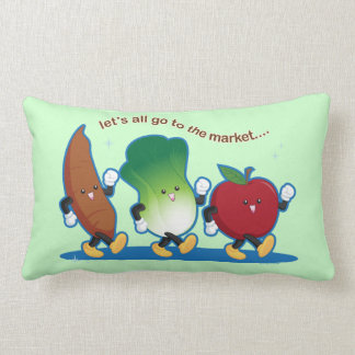 Let's All Go to the Market Pillow