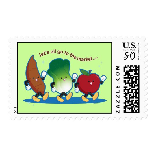 Let's All Go to the Market Postage