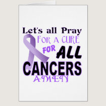 Let's All Pray For a Cure Cancer Awareness Apparel Card