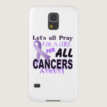 Let's All Pray For a Cure Cancer Awareness Apparel Case For Galaxy S5
