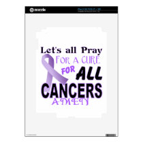 Let's All Pray For a Cure Cancer Awareness Apparel Decals For The iPad 2