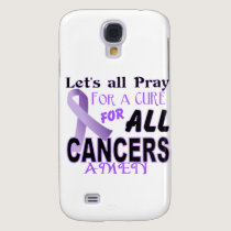 Let's All Pray For a Cure Cancer Awareness Apparel Galaxy S4 Case