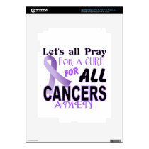 Let's All Pray For a Cure Cancer Awareness Apparel iPad 3 Skins