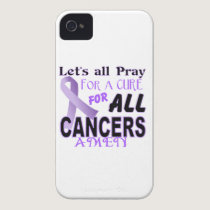 Let's All Pray For a Cure Cancer Awareness Apparel iPhone 4 Cover