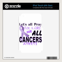 Let's All Pray For a Cure Cancer Awareness Apparel iPod Touch 4G Skin