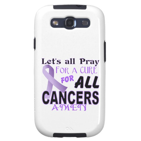 Let's All Pray For a Cure Cancer Awareness Apparel Samsung Galaxy S3 Case