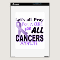 Let's All Pray For a Cure Cancer Awareness Apparel Skin For iPad