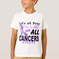 Let's All Pray For a Cure Cancer Awareness Apparel T-Shirt