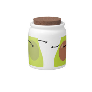 LET'S AVOCUDDLE, AVOCADO DESIGN CANDY JAR