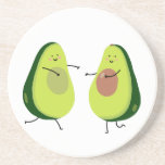 """LET&#39;S AVOCUDDLE, AVOCADO DESIGN SANDSTONE COASTER<br><div class=""""desc"""">Let's AVOCUDDLE. Perfect for Avo-Lovers. Treat yourself or treat a loved one.</div>"""