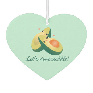 Let's Avocuddle Funny Cute Avocados Pun Humor Air Freshener