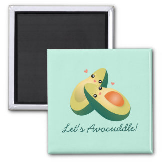 Let's Avocuddle Funny Cute Avocados Pun Humor Magnet