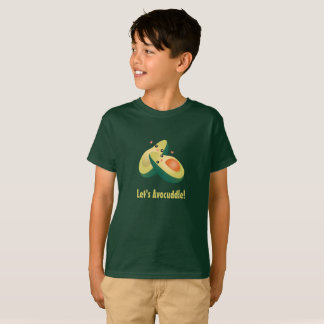 Let's Avocuddle Funny Cute Avocados Pun Humor T-Shirt