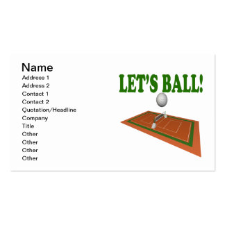 Lets Ball 2 Double-Sided Standard Business Cards (Pack Of 100)