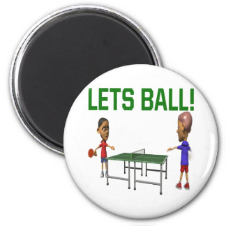 Lets Ball 2 Inch Round Magnet