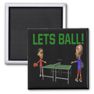 Lets Ball 2 Inch Square Magnet