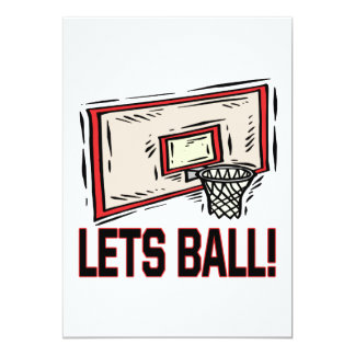 Lets Ball 5x7 Paper Invitation Card