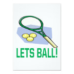 Lets Ball 5x7 Paper Invitation Card