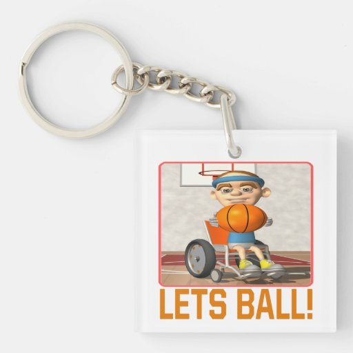 Lets Ball 7 Single-Sided Square Acrylic Keychain